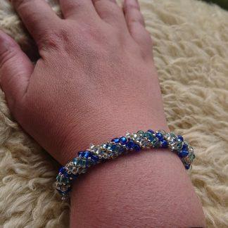 Russisk spiral armbånd blå